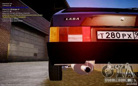 VAZ 2108 para GTA 4 traseira esquerda vista