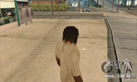 Longos cabelos escuros para GTA San Andreas segunda tela