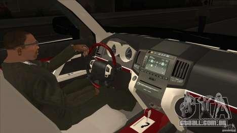 Lexus LX 570 para GTA San Andreas vista interior
