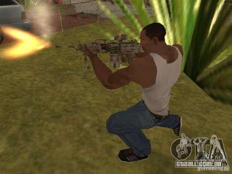 Metralhadora MK-48 para GTA San Andreas quinto tela