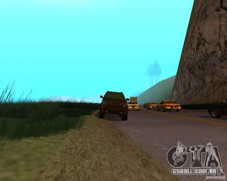 Cavalgada de GTA 4 para GTA San Andreas vista direita