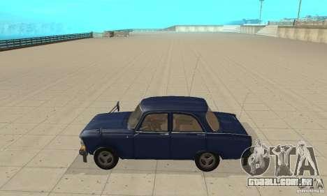 412 Moskvich com tuning para GTA San Andreas esquerda vista
