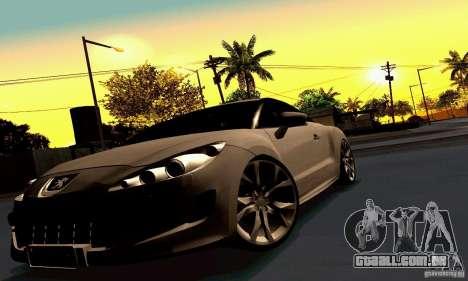Peugeot Rcz 2011 para as rodas de GTA San Andreas