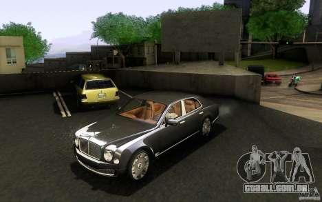Bentley Mulsanne 2010 v1.0 para GTA San Andreas esquerda vista