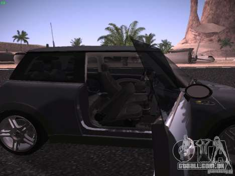 Mini Cooper S para vista lateral GTA San Andreas