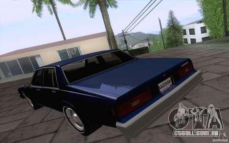 Chevrolet Caprice Clasico para GTA San Andreas traseira esquerda vista