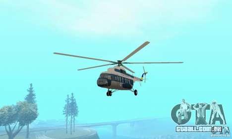 MI-17 civis (ucraniano) para GTA San Andreas