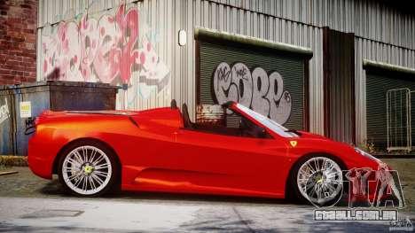 Ferrari F430 Scuderia Spider para GTA 4 vista lateral