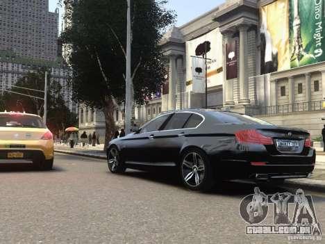 BMW 550i F10 para GTA 4 traseira esquerda vista