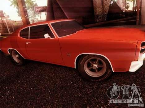 Chevy Chevelle SS 1970 para GTA San Andreas traseira esquerda vista