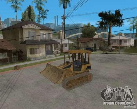 Bulldozer de COD 4 MW para GTA San Andreas vista traseira