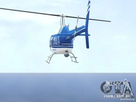 Bell 206 B - NYPD para GTA 4 vista inferior