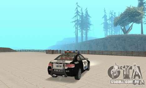 BMW M3 E92 Police para GTA San Andreas esquerda vista