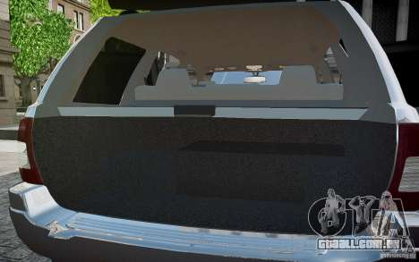Jeep Grand Cheroke para GTA 4 motor