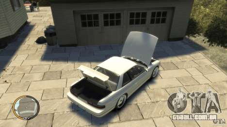 Nissan Silvia s13 Drifted v1.0 para GTA 4 vista direita