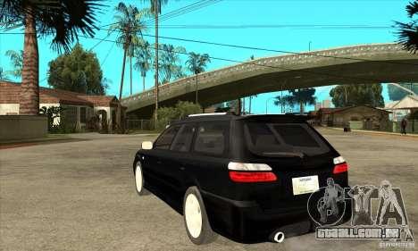 Subaru Legacy Station Wagon para GTA San Andreas traseira esquerda vista