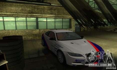BMW M3 E92 para GTA San Andreas vista superior