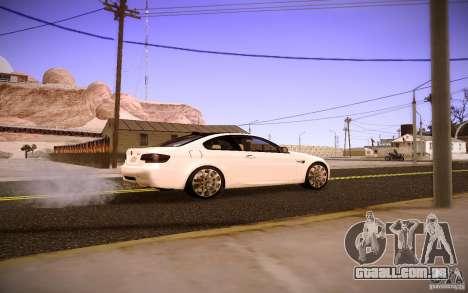 BMW M3 E92 para GTA San Andreas esquerda vista