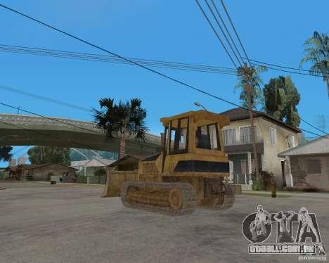 Bulldozer de COD 4 MW para GTA San Andreas traseira esquerda vista