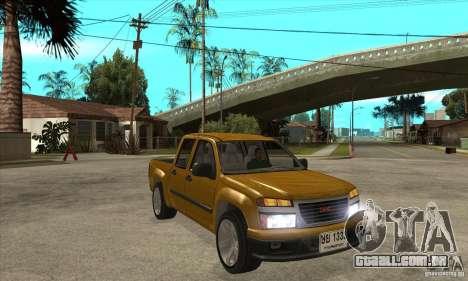 GMC Canyon 2007 para GTA San Andreas vista traseira
