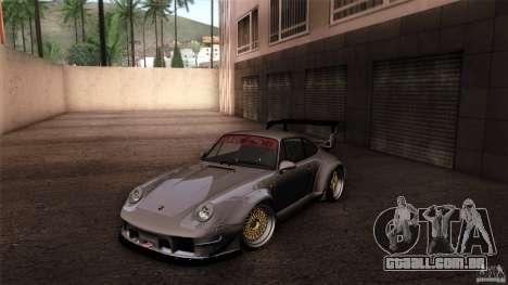 Porsche 993 RWB para GTA San Andreas vista inferior