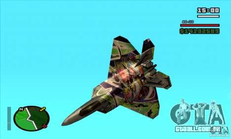F-22 Raptor Graffity Skin para GTA San Andreas esquerda vista