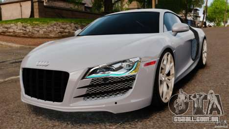 Audi R8 5.2 Stock 2012 Final para GTA 4