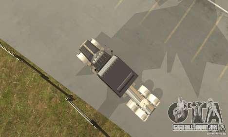 Peterbilt 379 Custom Legacy para GTA San Andreas vista traseira