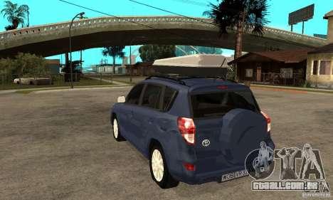 Toyota RAV4 V2 para GTA San Andreas traseira esquerda vista