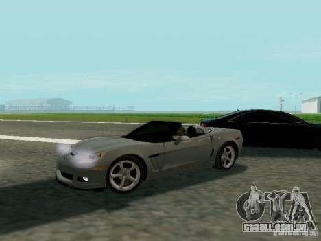 Chevrolet Corvette C6 GS Convertible 2012 para GTA San Andreas