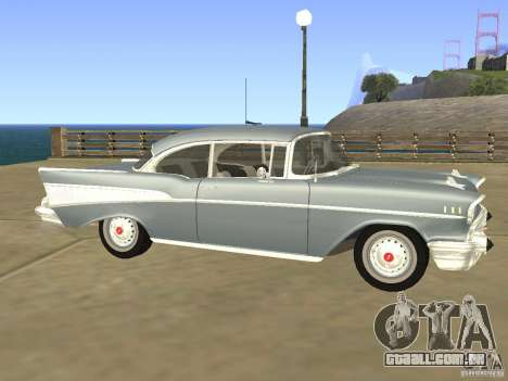 Chevrolet Bel Air 1957 para GTA San Andreas esquerda vista