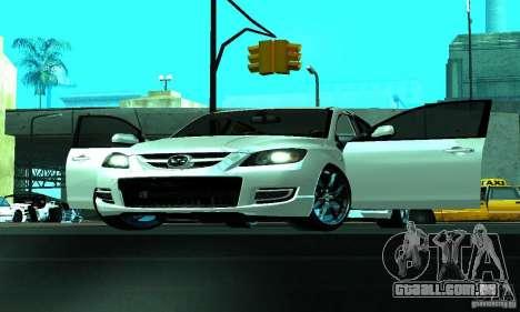 Mazda Speed 3 para GTA San Andreas vista interior
