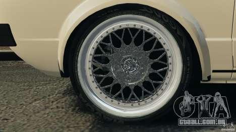 Volkswagen Golf Mk1 Stance para GTA 4 vista inferior