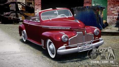 Chevrolet Special DeLuxe 1941 para GTA 4 vista de volta