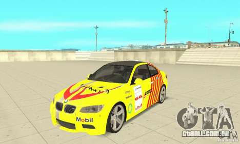 BMW M3 2008 para GTA San Andreas interior