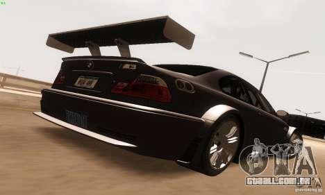 BMW M3 GTR para GTA San Andreas vista direita
