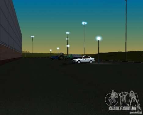 Carros no estacionamento em Anašana para GTA San Andreas terceira tela