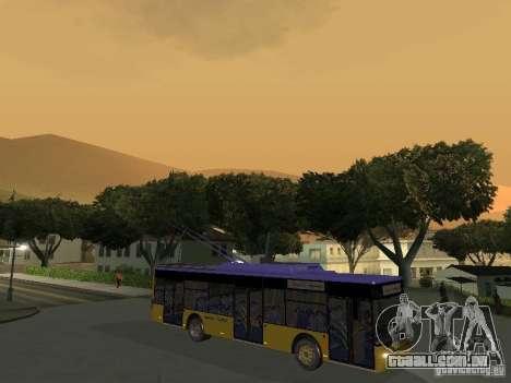 Trólebus LAZ e-183 para GTA San Andreas esquerda vista