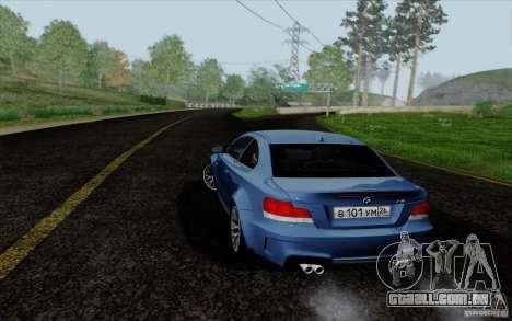 BMW 1M 2011 V3 para GTA San Andreas esquerda vista