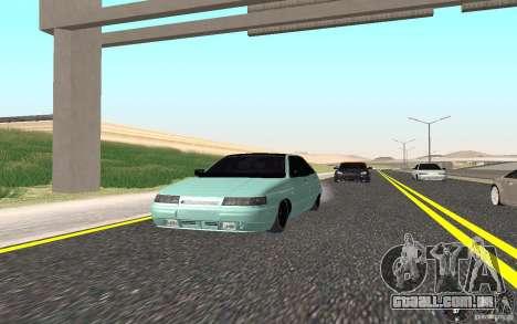 Ajuste de luz VAZ-2112 para GTA San Andreas traseira esquerda vista
