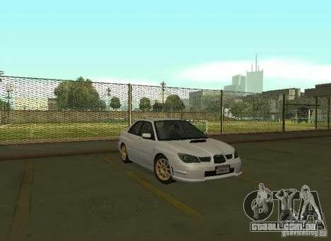 Subaru Impreza WRX STI-Street Racing para GTA San Andreas traseira esquerda vista
