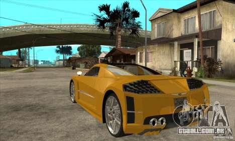 Chrysler ME Four-Twelve Concept para GTA San Andreas traseira esquerda vista