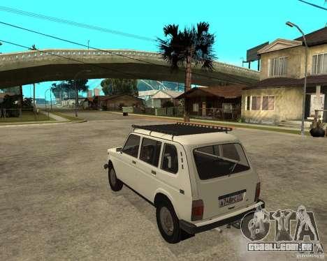 Niva Vaz 2131 para GTA San Andreas esquerda vista