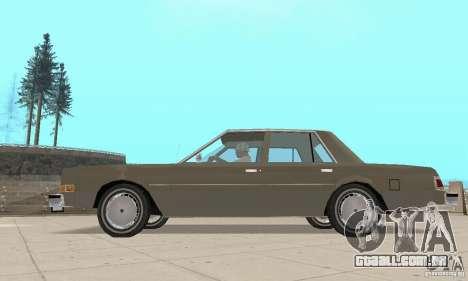 Dodge Diplomat 1985 v2.0 para GTA San Andreas vista direita