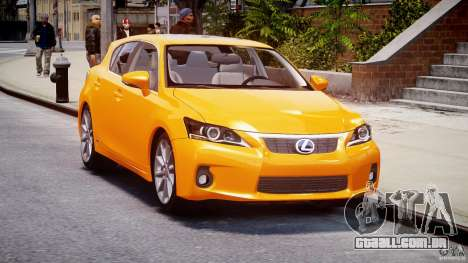 Lexus CT200h 2011 para GTA 4 vista de volta