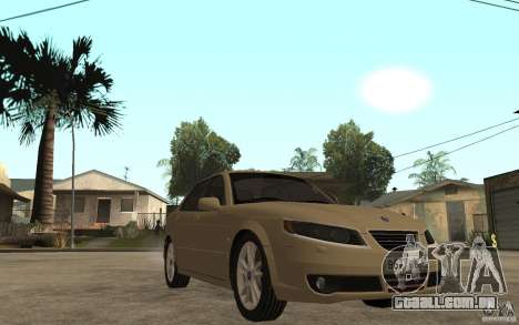 Saab 9-5 para GTA San Andreas vista traseira