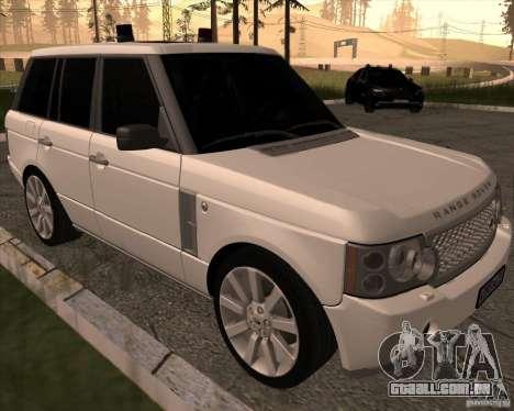 Land Rover Range Rover Supercharged para GTA San Andreas esquerda vista