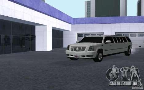 Cadillac Escalade 2008 Limo para GTA San Andreas vista direita