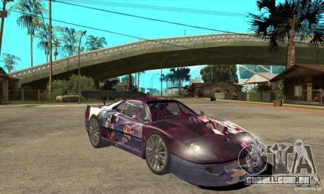 Ferrari F40 2000 Extreme para GTA San Andreas vista traseira