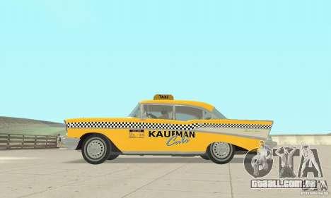 Chevrolet Bel Air 4-door Sedan Taxi 1957 para GTA San Andreas vista traseira